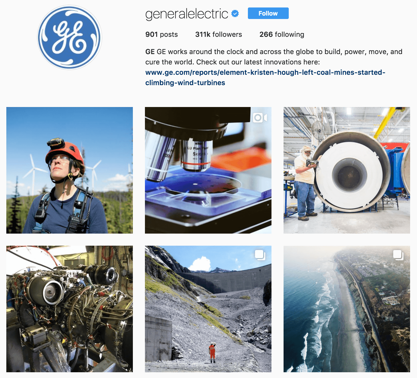 General Electric's Instagram