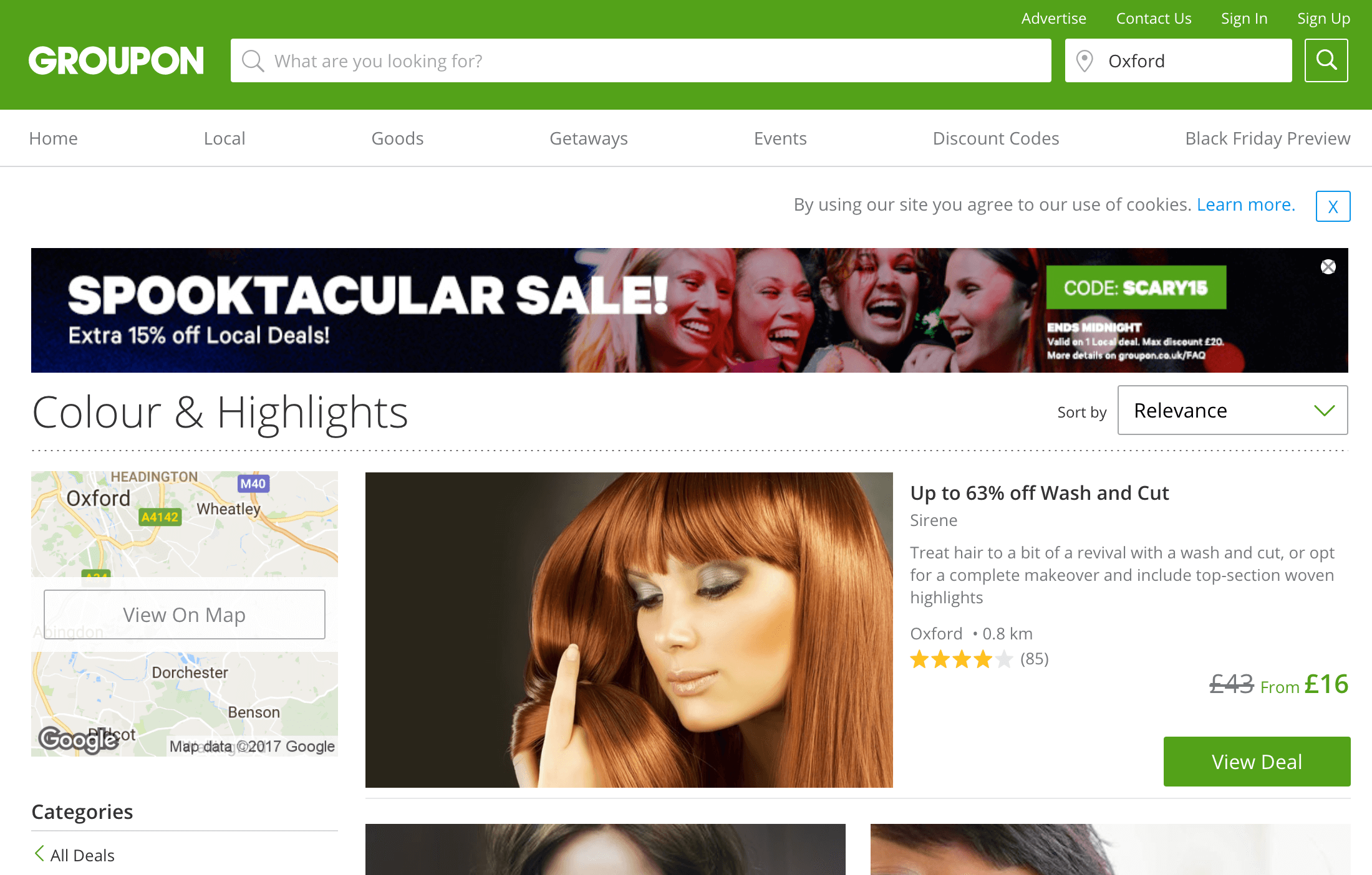 Groupon results for Oxford