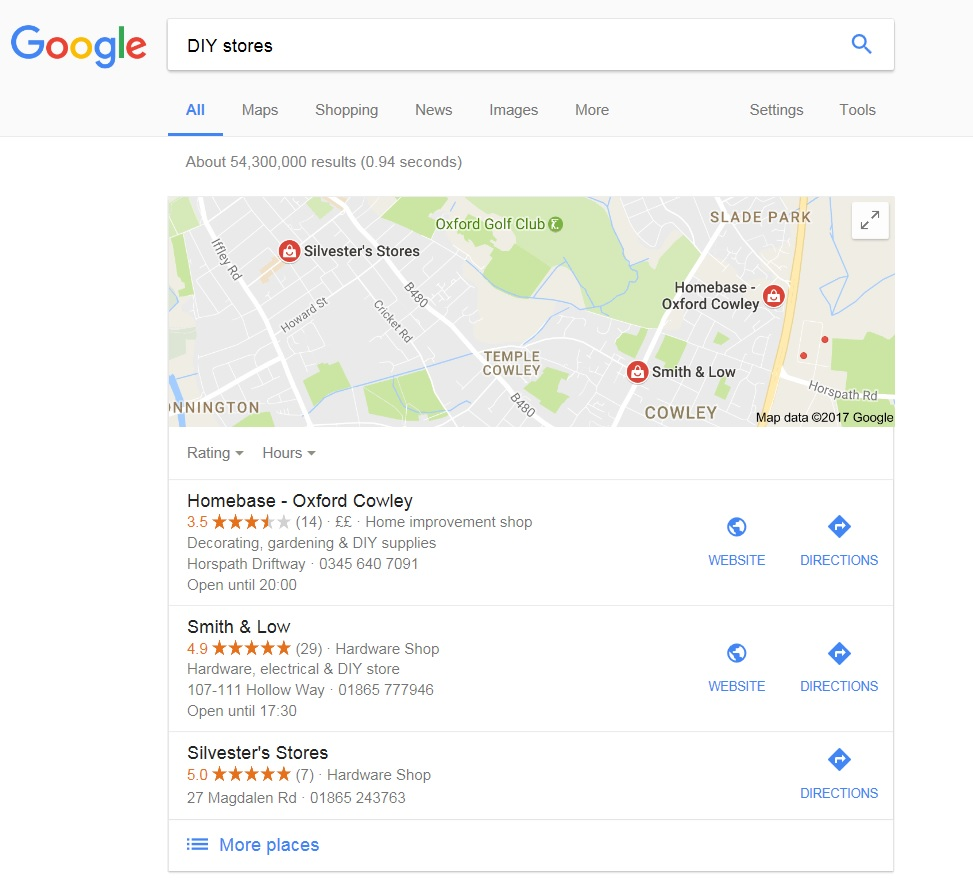 Google reviews screenshot