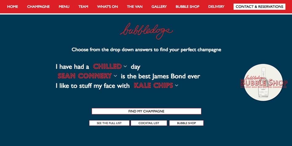 Bubbledogs website homepage screenshot