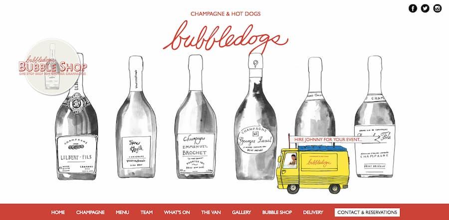 Bubbledogs website screenshot