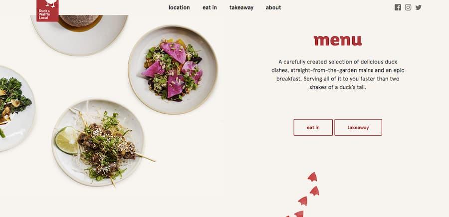 Duck and Waffle local website screenshot