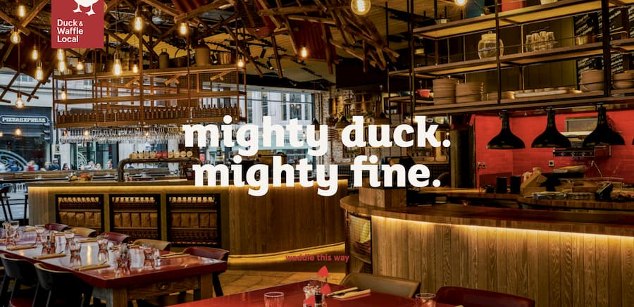 Duck and Waffle local website screenshot