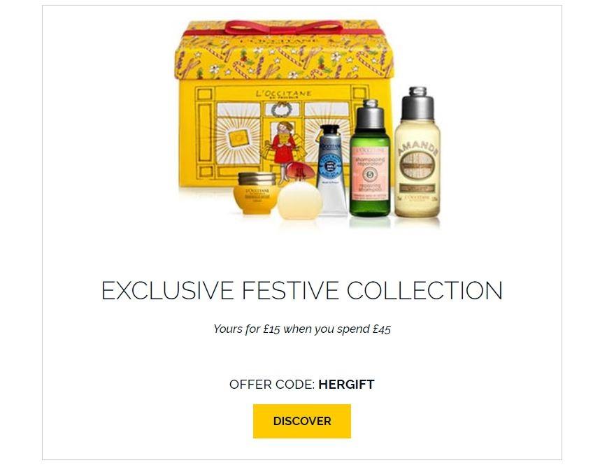 L'Occitane Christmas offer