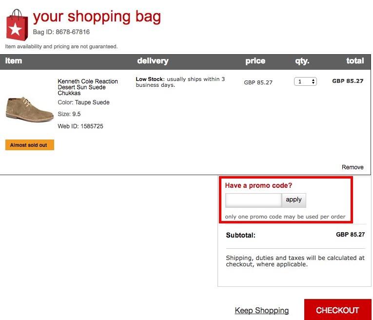 online discount example
