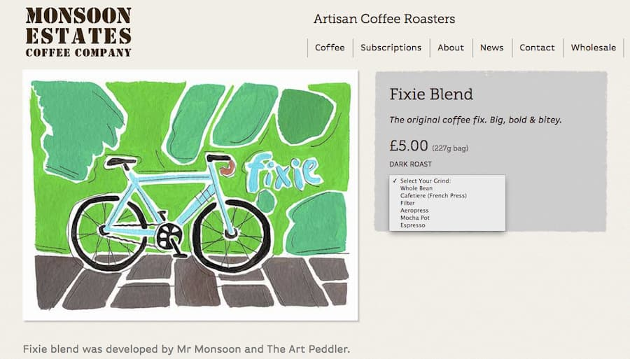 Monsoon Estates Coffee Fixie blend