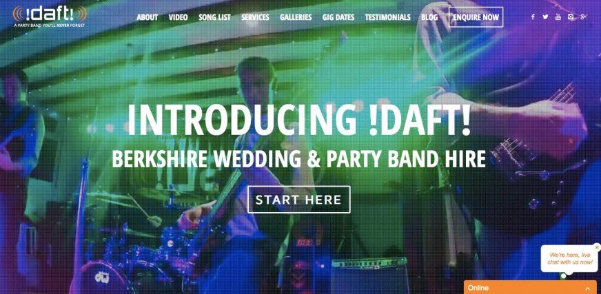 Daft! website homepage - Introducing Daft!