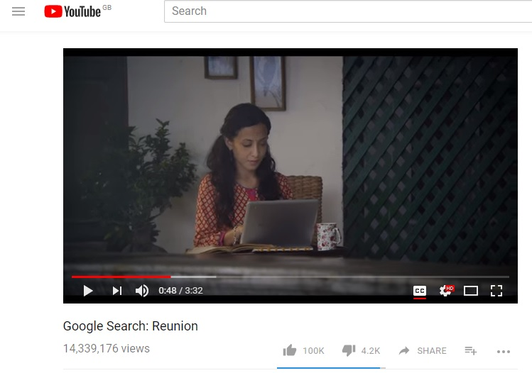 google search reunion storytelling marketing