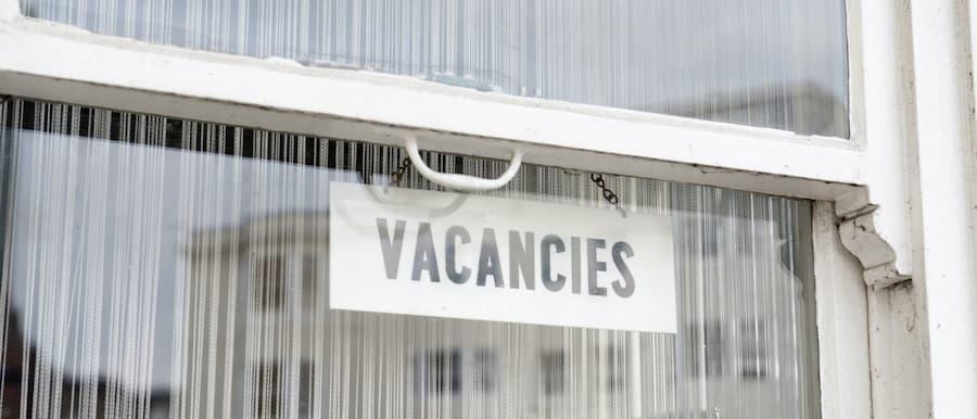 Vacancy sign in window