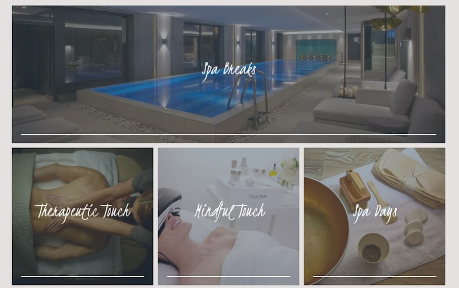 Dormy house spa days website screenshot