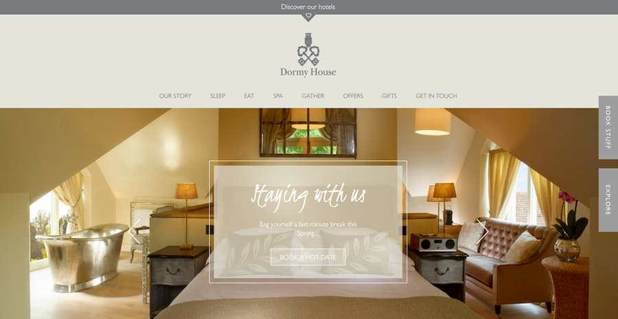 Dormy house website screenshot