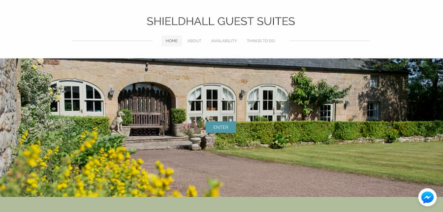 Shieldhall guest house website screenshot