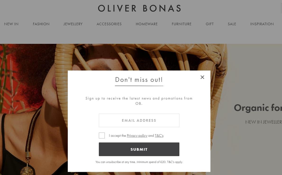 Oliver Bonas form