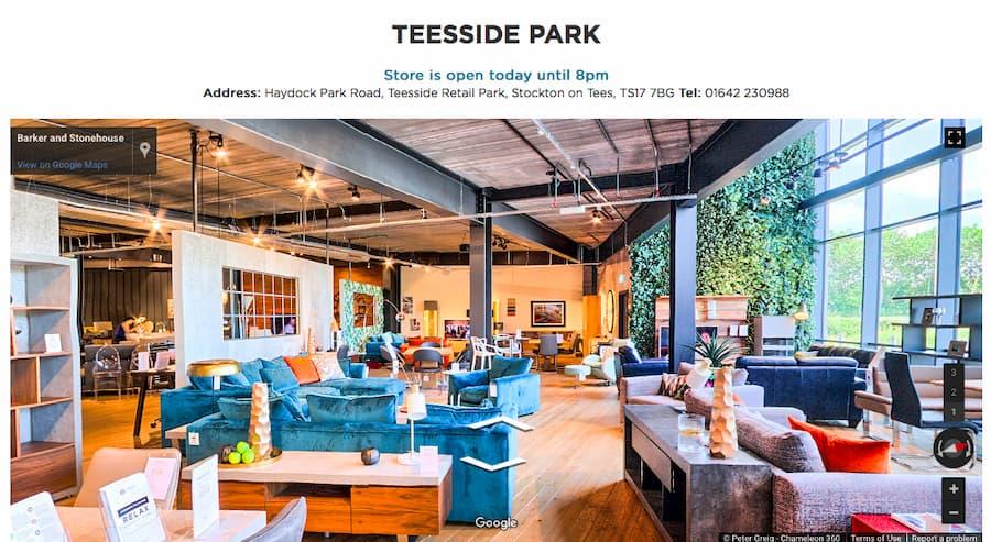 Teeside Park homepage