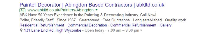 Google Ads example 2