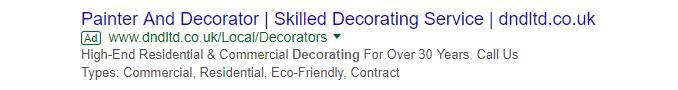 Google Ads example