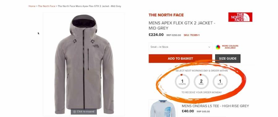 North Face Jacket timeline