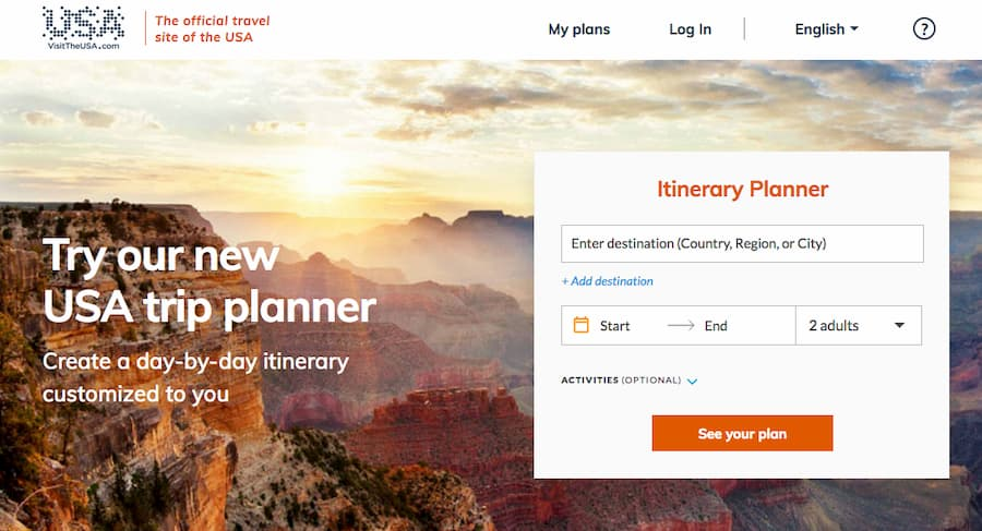 Visit The USA trip planner homepage