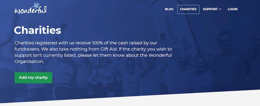 Wonderful website screenshot