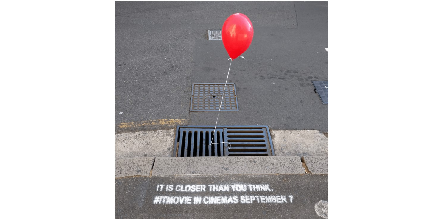 IT film guerrilla marketing campaign