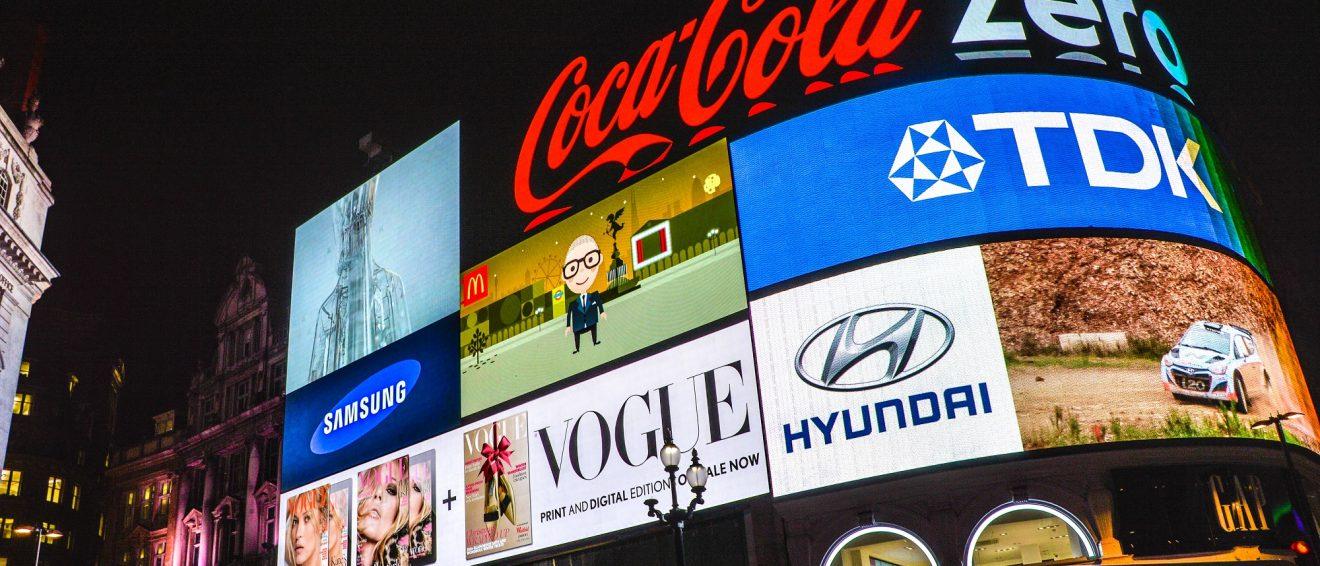 Brand advertising on big screen