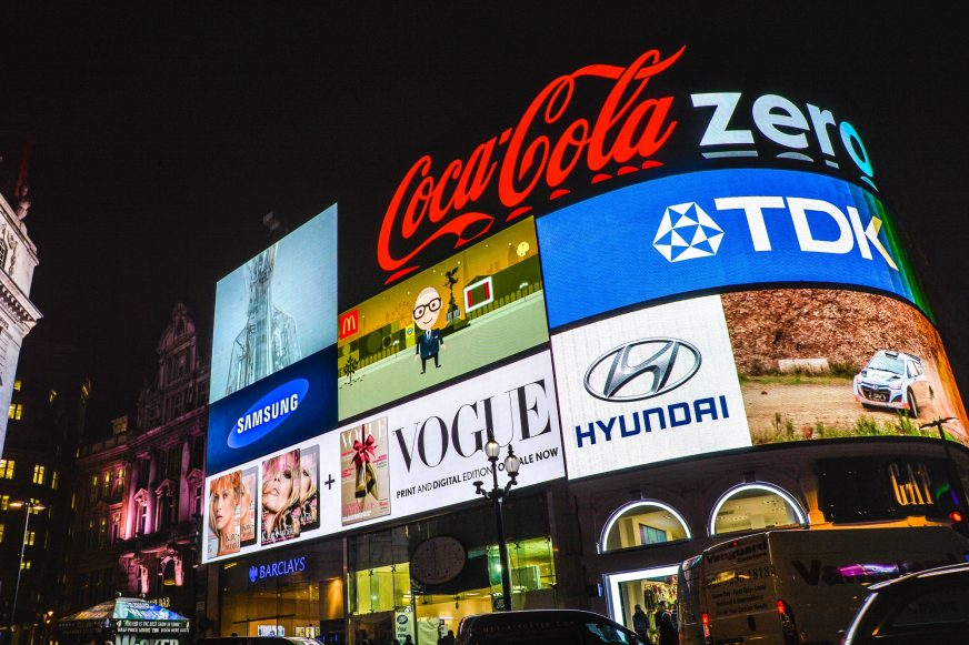 Brand advertising on big screen