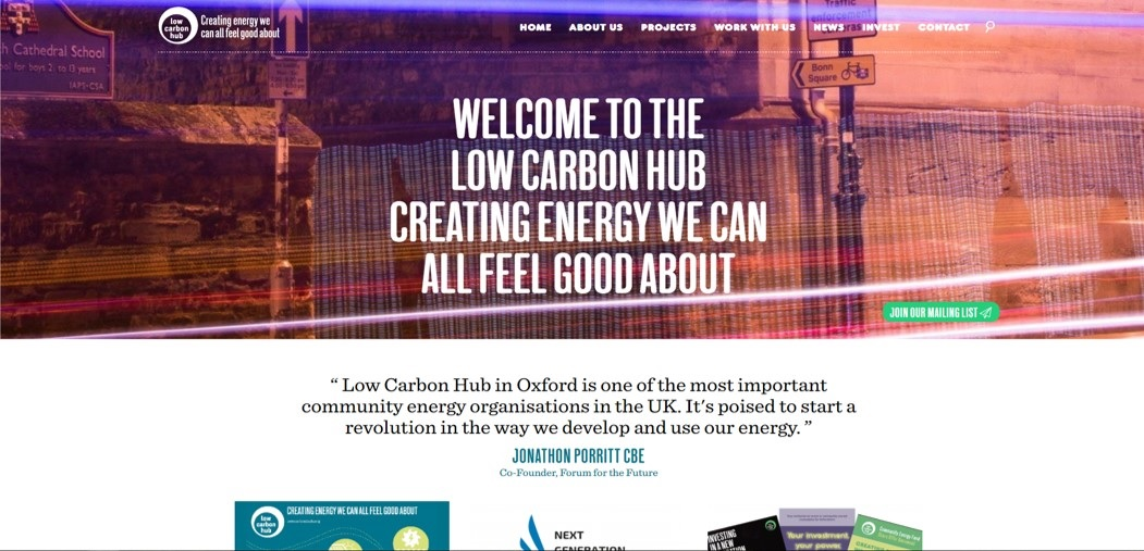 Low Carbon Hub website