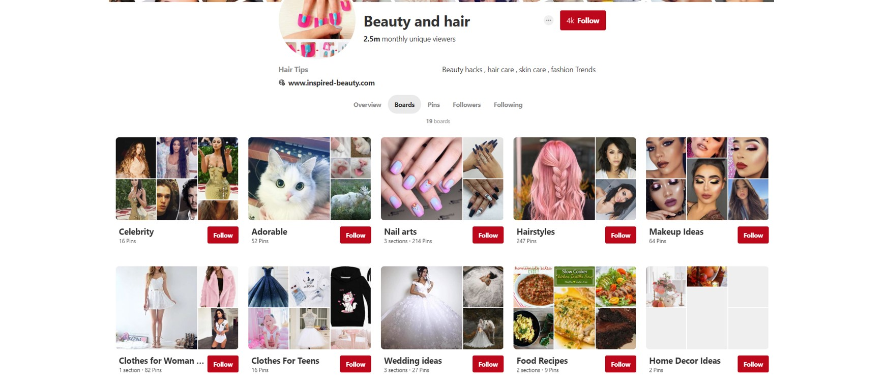 Pinterest beauty tips and tricks board