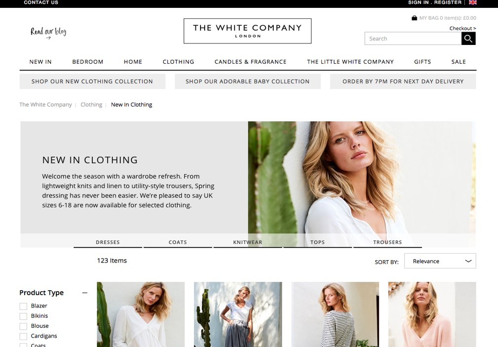 The White Company website