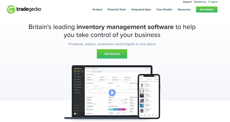 TradeGecko website