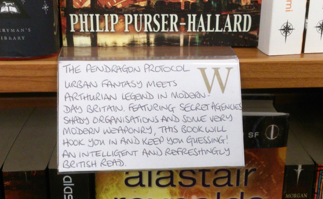 Book review in Waterstones store