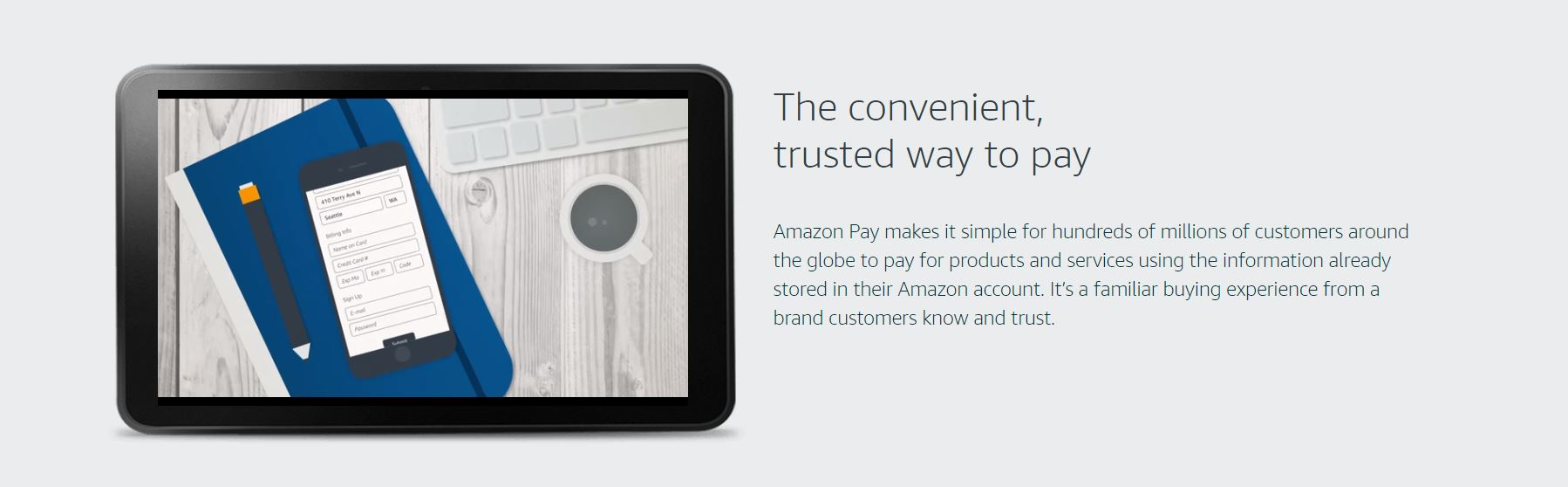 Screenshot of Amazon Pay website