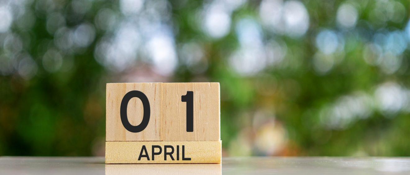 calendar for April 1