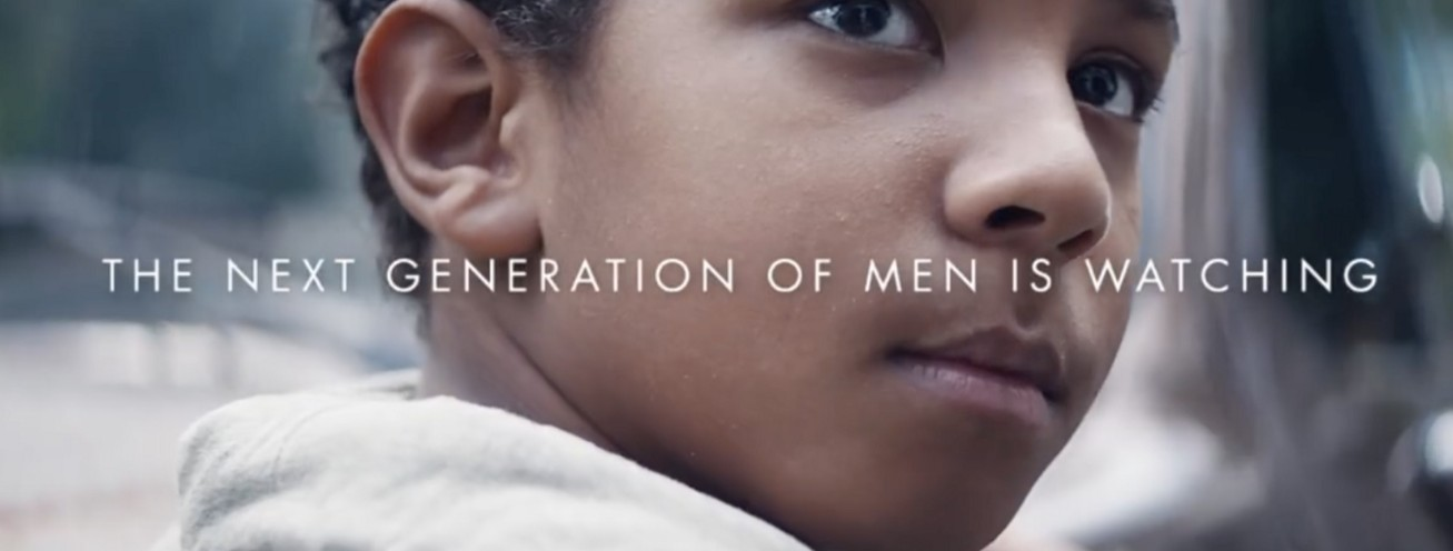 Screenshot of Gillette marketing campaign