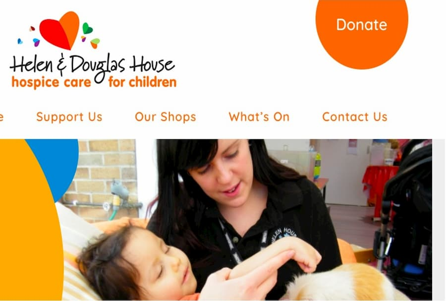 Helen Douglas House homepage screenshot