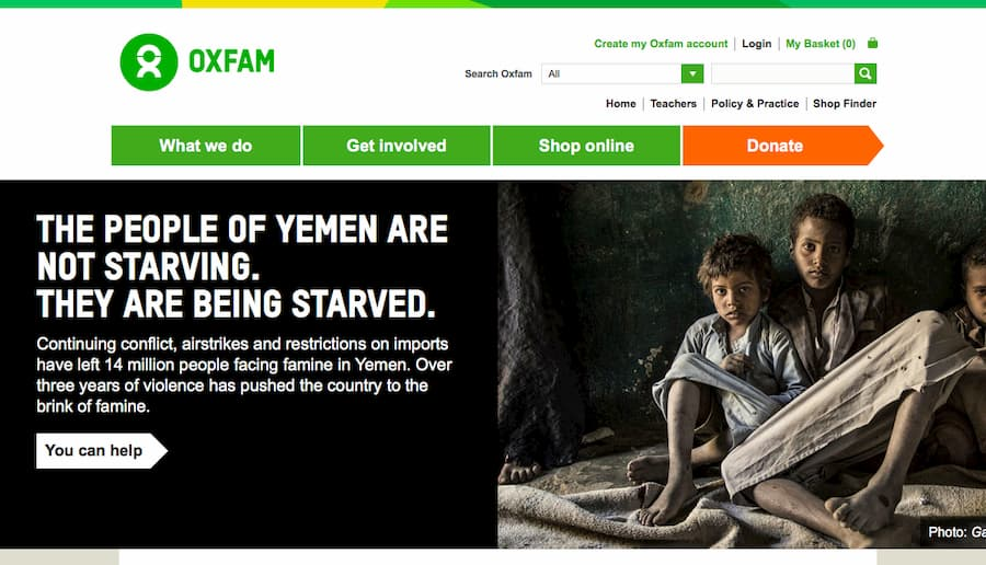 OXFAM website