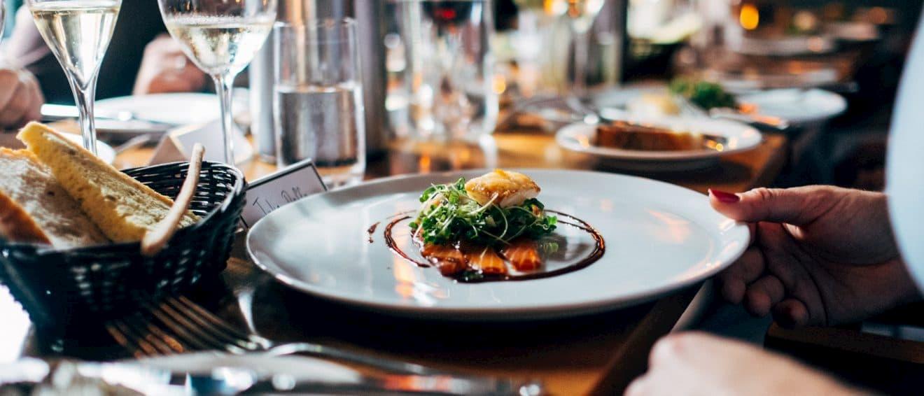 High end restaurant plate