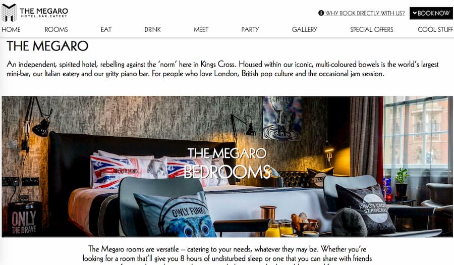 The Megaro Hotel homepage
