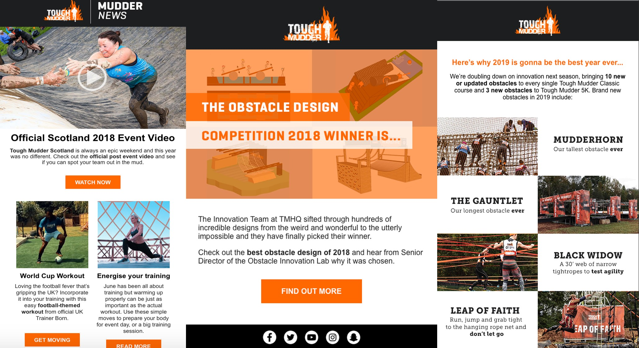 Tough Mudder email marketing