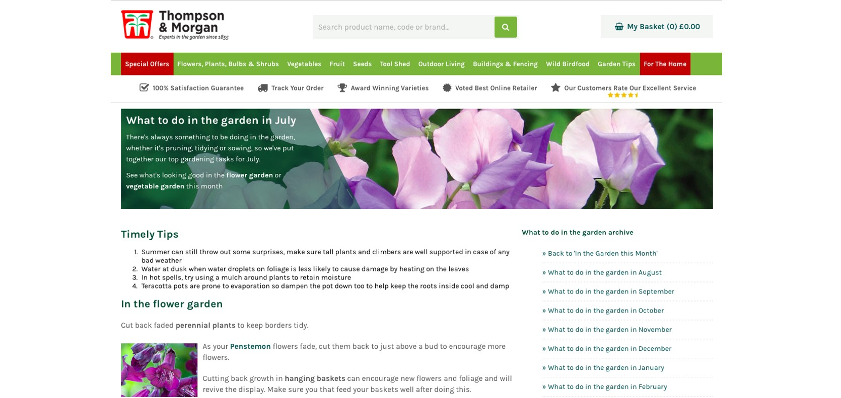 Gardening website