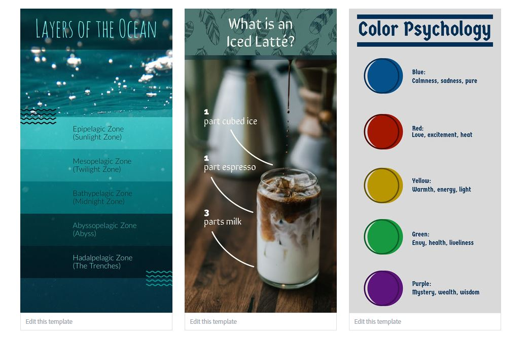 Adobe Spark infographic creator