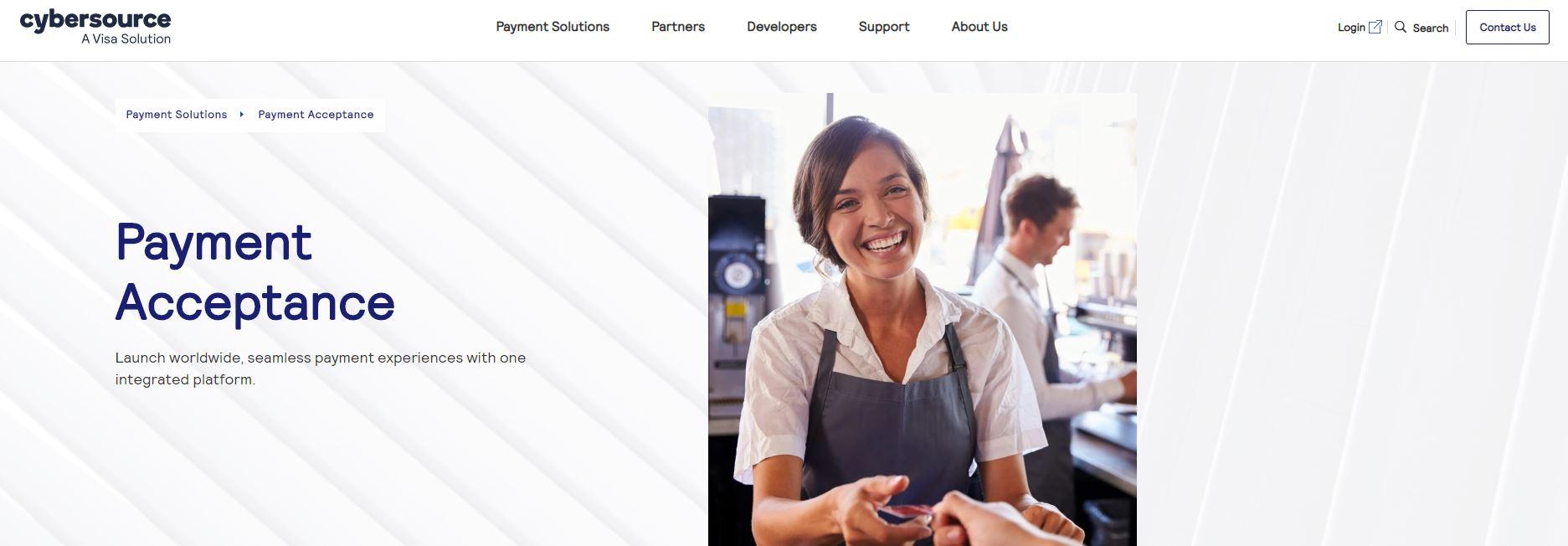 Cybersource website