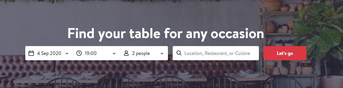 OpenTable booking platform