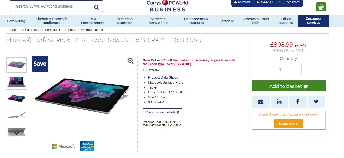 PC World Business product page