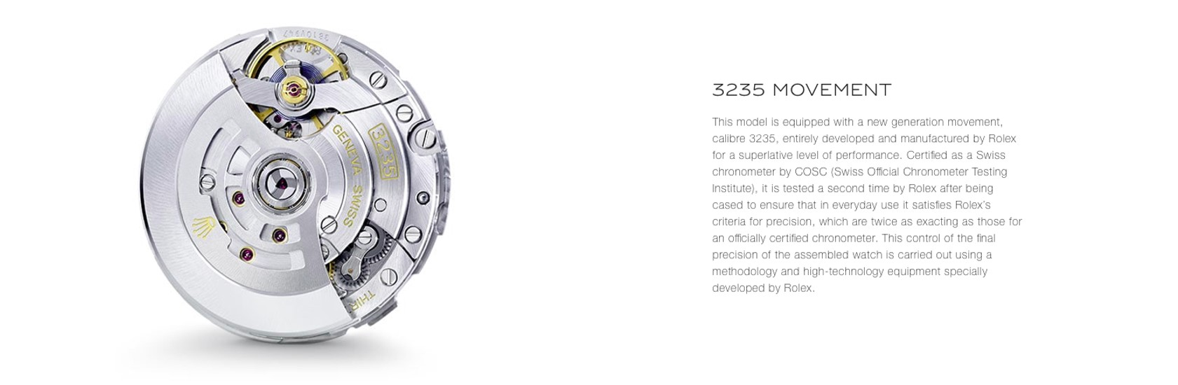 Rolex online product description