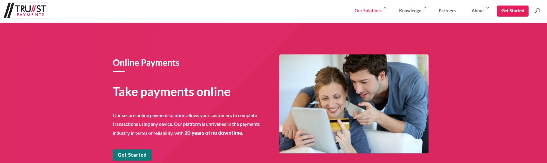 Trust Payments website