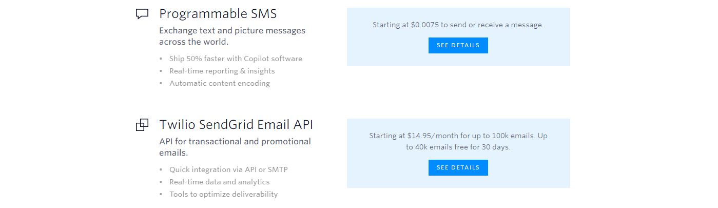 Twilio pricing