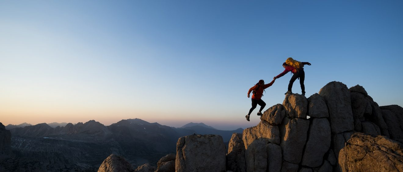 two mountain climbers