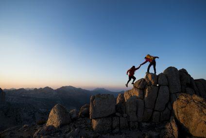 two mountain climbers
