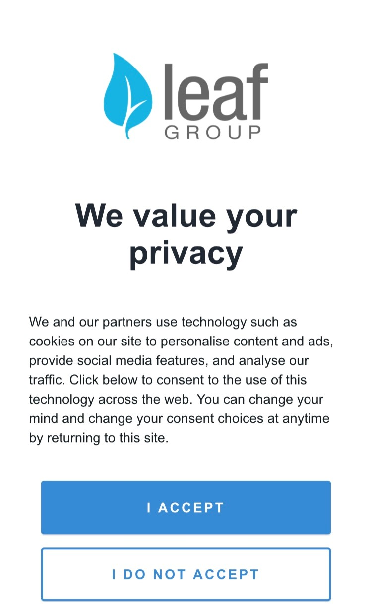 privacy popup
